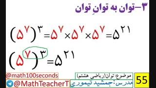 ریاضی هشتم-فصل هفتم-درس اول-توان