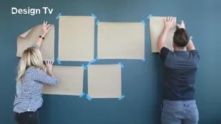 نحوه درست نصب تابلوهای متنوع بر روی دیوار