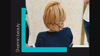 نحوه اجرای شینیون _ آموزشگاه آرایش و زیبایی شرمین