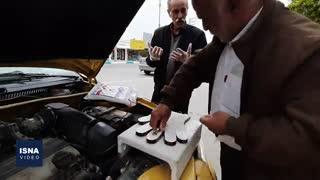 رانندهای که برای مردم دستکش پلاستیکی میسازد