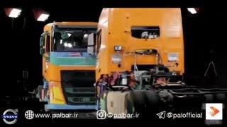 مقایسه کامیون ولوو و اسکانیا در تست تصادفات
