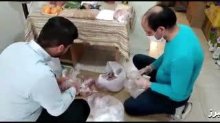 توزیع سبدکالا بین 150 خانوار نیازمند توسط مرکز نیکوکاری اصناف کشاورزی البرز