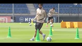 اولین روز تمرینی رئال مادرید بعد از قرنطین