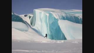 شگفتیهای طبیعت؛ کوه یخ راهراه