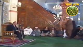 قران الجمعه الطبیب القارئ الشیخ احمد نعینع ویدیو نادر  من مسجد الحسین تلاوة من سورة الحج نوادر