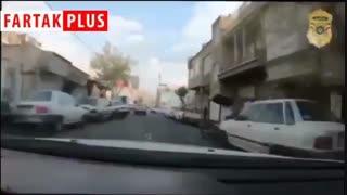 تعقیب و گریز سارق زورگیر توسط پلیس آگاهی در خیابانهای تهران