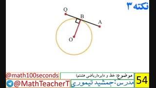 ریاضی هشتم-فصل نهم-درس اول-خط و دایره
