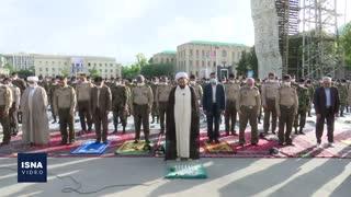 نماز عید فطر در دانشکده افسری ارتش و دانشگاه تهران