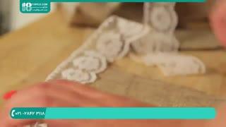 ایده های عروسی-ساخت ریسه با کیسه گونی