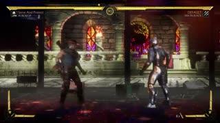 مبارزه ارون بلک و پلیس آهنی در Mortal Kombat 11-بازیمگ