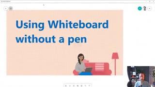 تدریس بدون نیاز به قلم نوری با مایکروسافت وایت برد