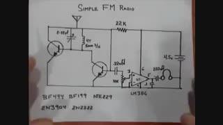 گیرنده رادیو اف ام ساده