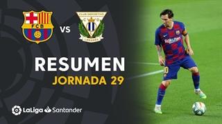 خلاصه بازی بارسلونا 2 - لگانس 0 از هفته 29 لالیگا اسپانیا