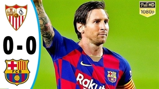خلاصه بازی بارسلونا 0 - سویا 0 از هفته 30 لالیگا اسپانیا