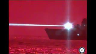 نیروی دریایی آمریکا قدرتمندترین لیزر دریایی خودش را آزمایش کرد