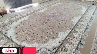 بزرگترین فرش یک پارچه (فرش بزرگ پارچه مسجد) تولید فرش دیوان کاشان