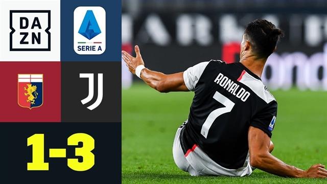 خلاصه بازی یوونتوس 3 - جنوا 1 از هفته 29 سری آ ایتالیا