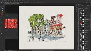 آموزش استفاده از پلاگین فتوشاپ Marker Sketch Toolkit
