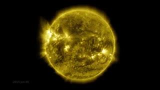 ویدیو تایم لپس 10 ساله از خورشید