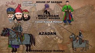 پویانمایی مستندی از تاریخچه سواران زره پوش ساسانی و هنایش آنان بر دیگر فرهنگها-  این برنامه به زبان انگلیسی است