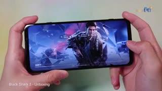 ویدئوی جعبه گشایی و تست گیم گوشی Black Shark 3