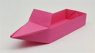 آموزش ساخت اوریگامی قایق موتوری شناور