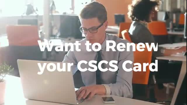 renew cscs card