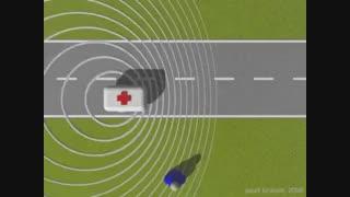 پدیده دوپلر - طول موج در جلو و عقب یک منبع صوتی متحرک
