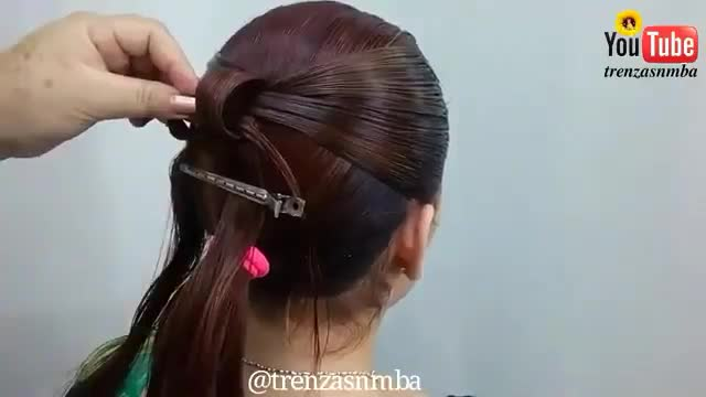 آموزش مدل مو دخترانه پاپیون دنباله بافت- مومیس مرجع و مشاور مو