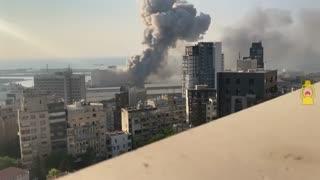 صحنه آهسته انفجار بیروت